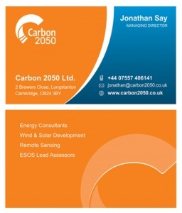 Carbon 2050 Business Stationery Designing